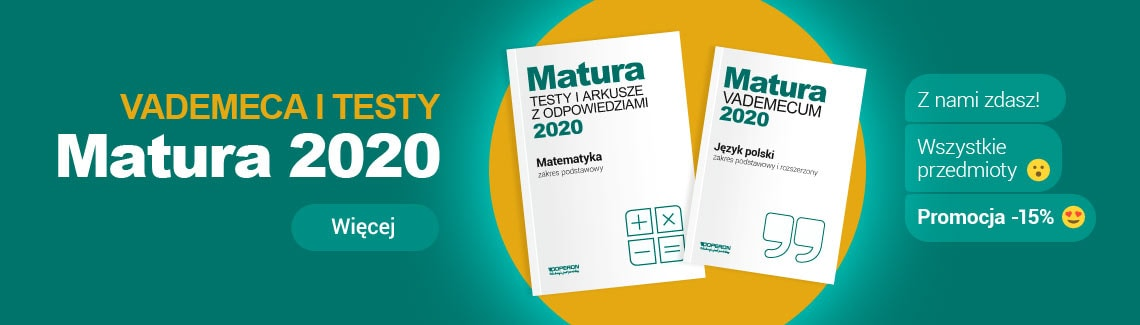 Baner Matura 2020 vademeca i testy z nami zdasz