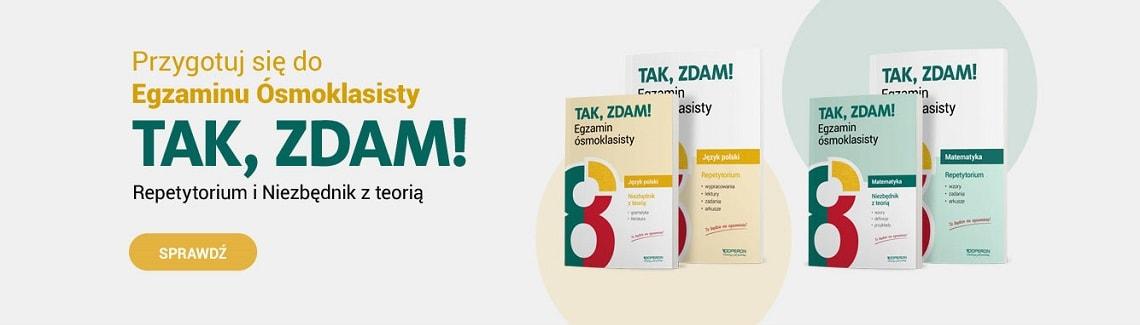 Baner publikacje przygotowujace do Egzaminu Osmoklasisty