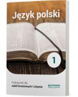 okladka podrecznika  jezyk polski szkola ponadpodstawowa klasa 1 szkoly branzowej