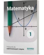okladka podrecznika matematyka szkola ponadpodstawowa  klasa 1 szkoly branzowej