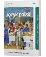 okladka podrecznika jezyk polski szkola ponadpodstawowa 1 klasa zakres podstawowy i rozszerzony linia 1