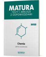 Matura. Chemia. Testy i arkusze maturalne 2022. Zakres rozszerzony